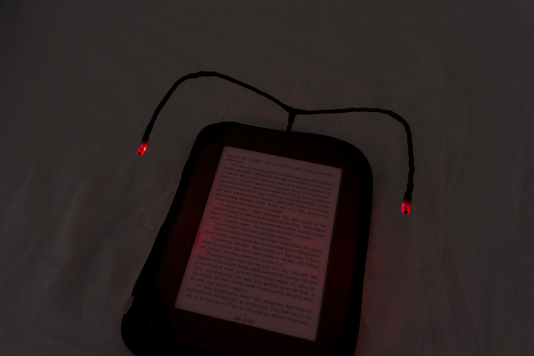 low-current lamp red led diode book light e-book upgrade handmade
